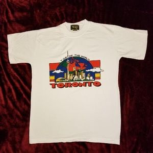 Vintage 90's Top of the World Toronto, Canada Tee